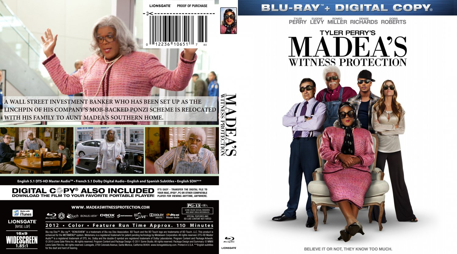 madeas witness protection dvd cover - photo #4