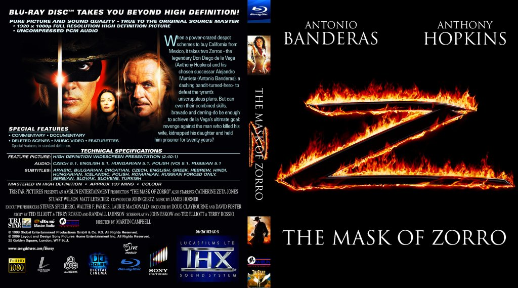 mask of zorro movie online