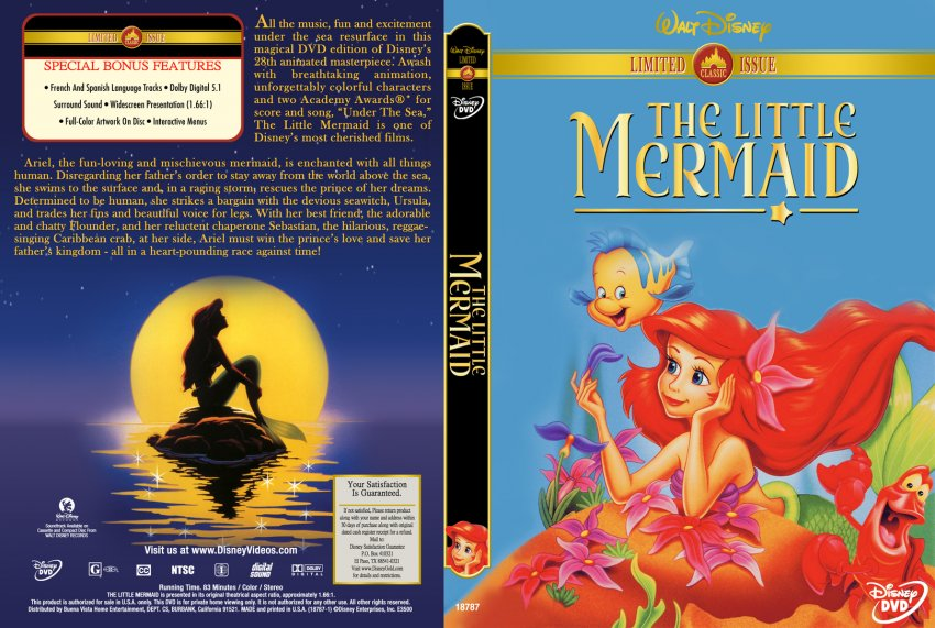 The Little Mermaid - Movie DVD Custom Covers - 280tl ...