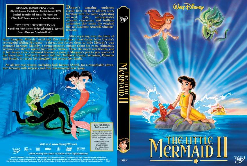 The Little Mermaid II - Movie DVD Custom Covers - 280tl ...