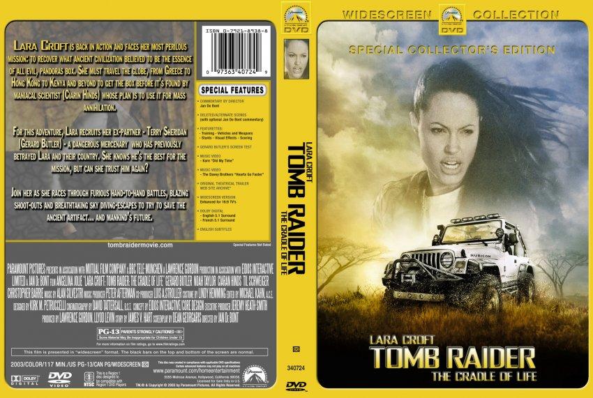 Lara Croft Tomb Raider Movie Dvd Custom Covers 280tr2