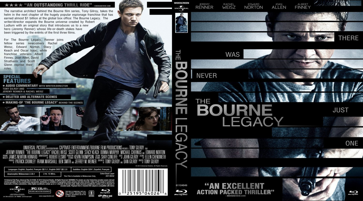 The Bourne Legacy - Movie Blu-Ray Custom Covers - The ...