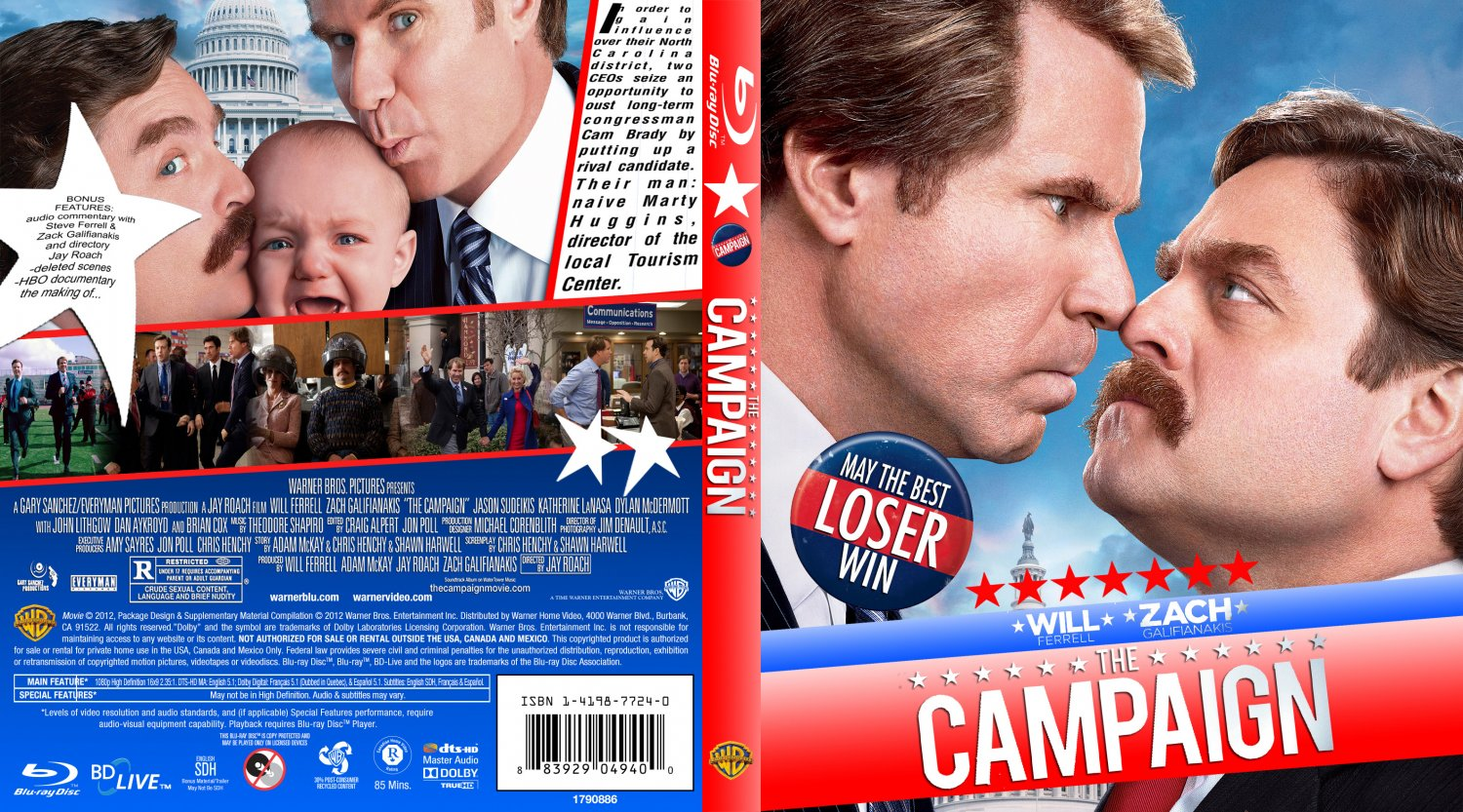 The Campaign - Movie Blu-Ray Custom Covers - The Campaign ...