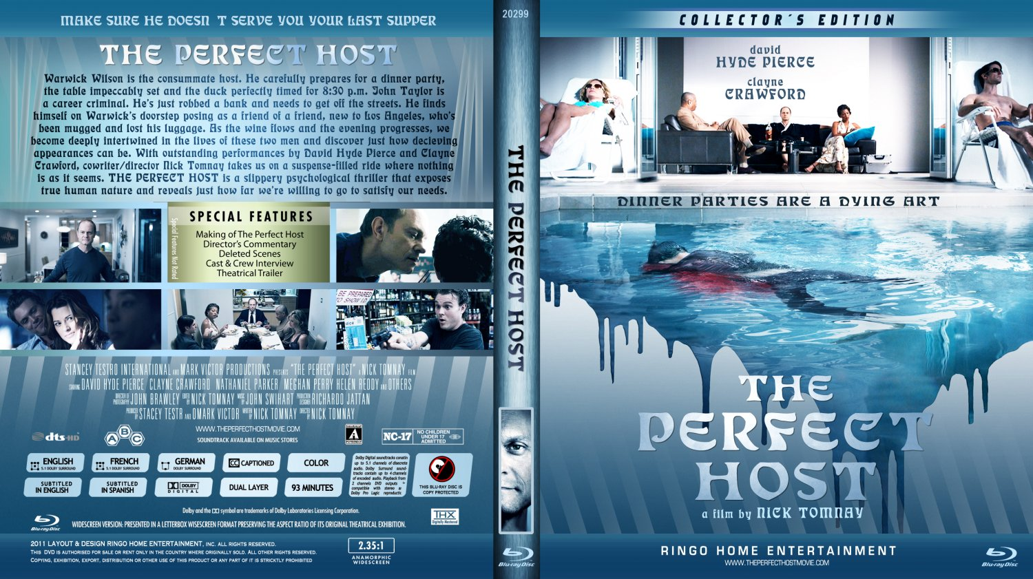 the perfect host movie blu ray custom covers the. Black Bedroom Furniture Sets. Home Design Ideas