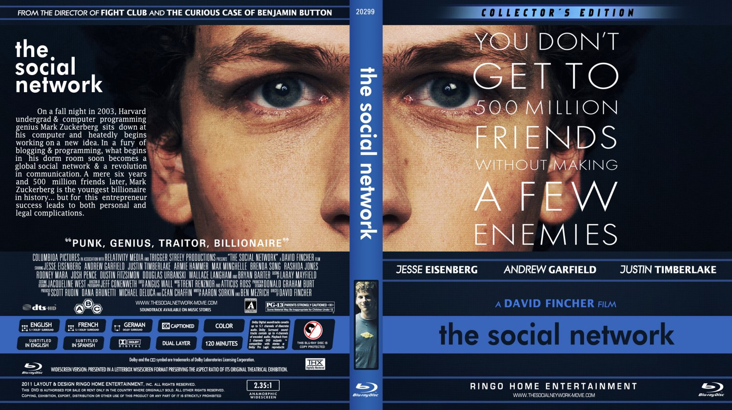 The Social Network - Movie Blu-Ray Custom Covers - The ...
