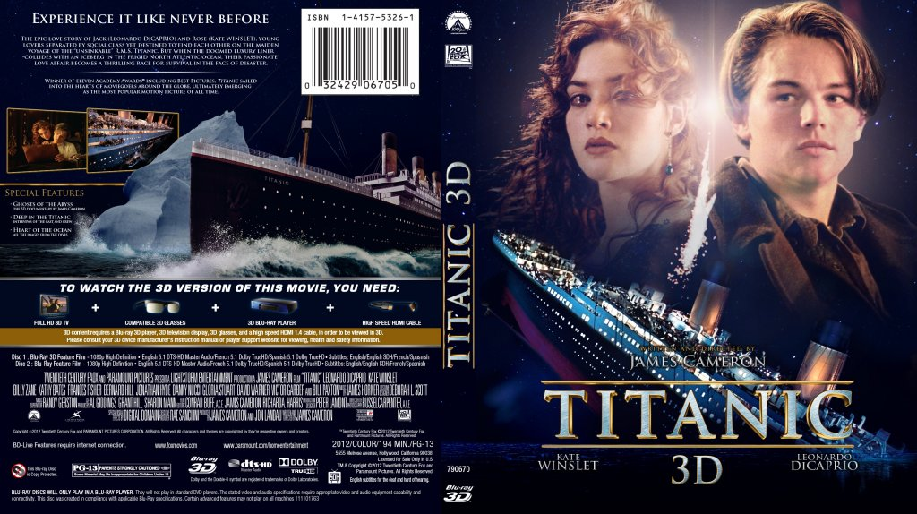 titanic blu ray  Titanic 3D Blu ray - Movie Blu-Ray Custom Covers - Titanic 3D Blu ...