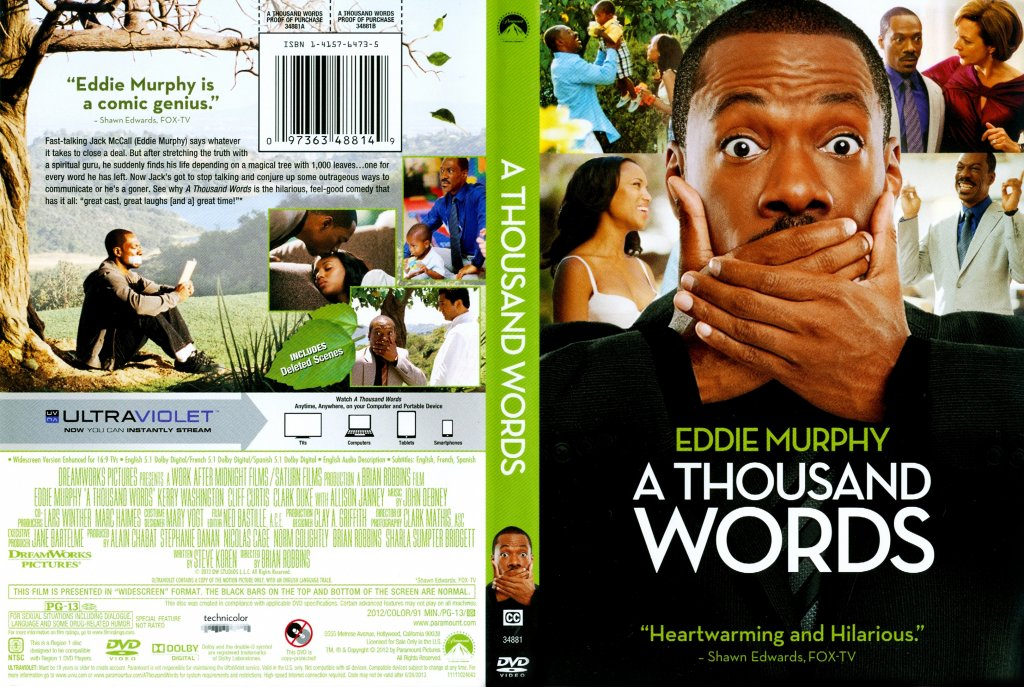 what has only two words but thousands of letters a thousand words dvd scanned covers a thousand 802