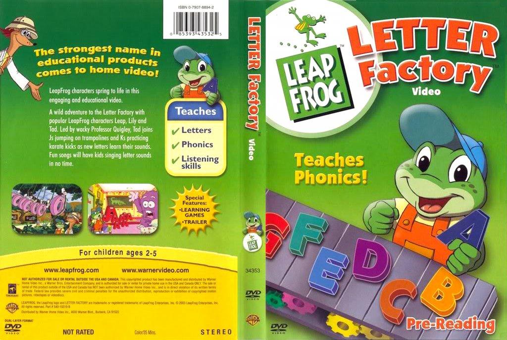 Leapfrog Letter Factory - Movie DVD Scanned Covers - Leap Frog Letter ...