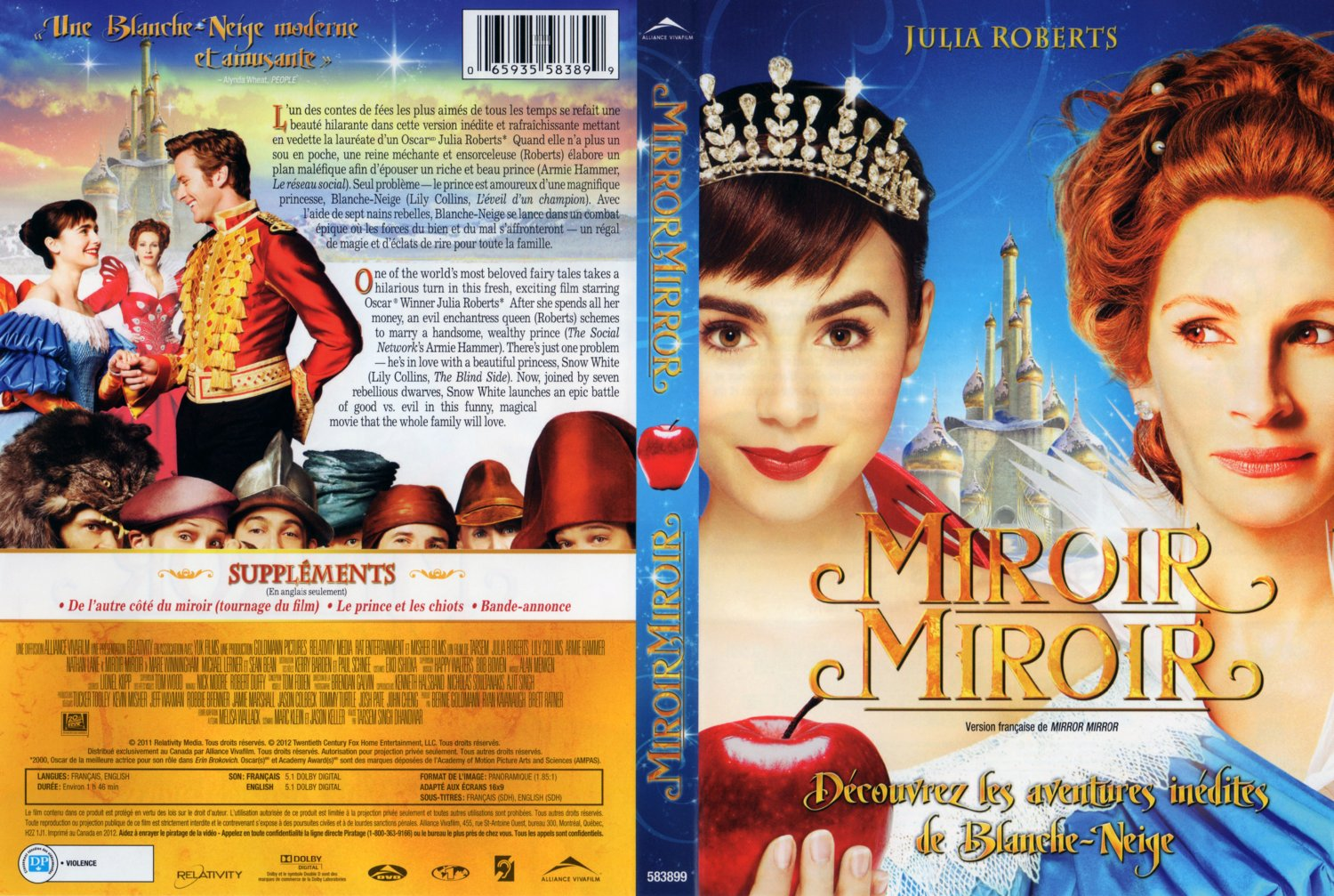 miroir miroir mirror mirror movie dvd scanned covers