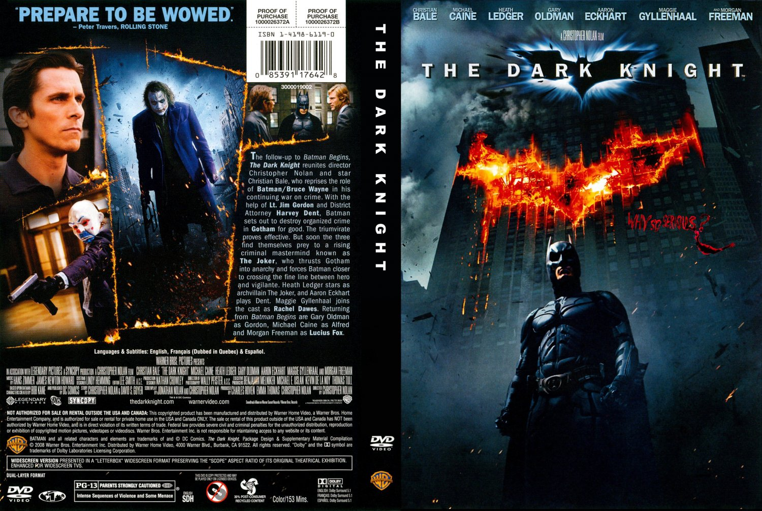 The Dark Knight - Movie DVD Scanned Covers - tdk1disca ...