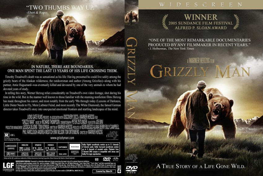 grizzly man movie dvd custom covers 2915grizzly man