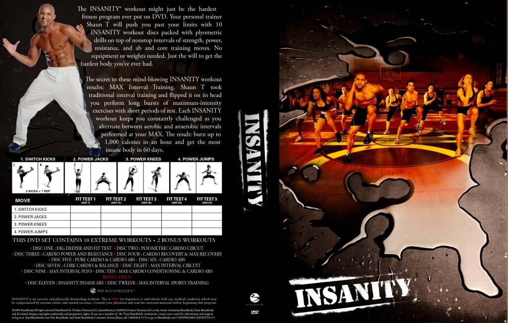 Insanity Extreme Workout - TV DVD Scanned Covers - Insanity Extreme ...