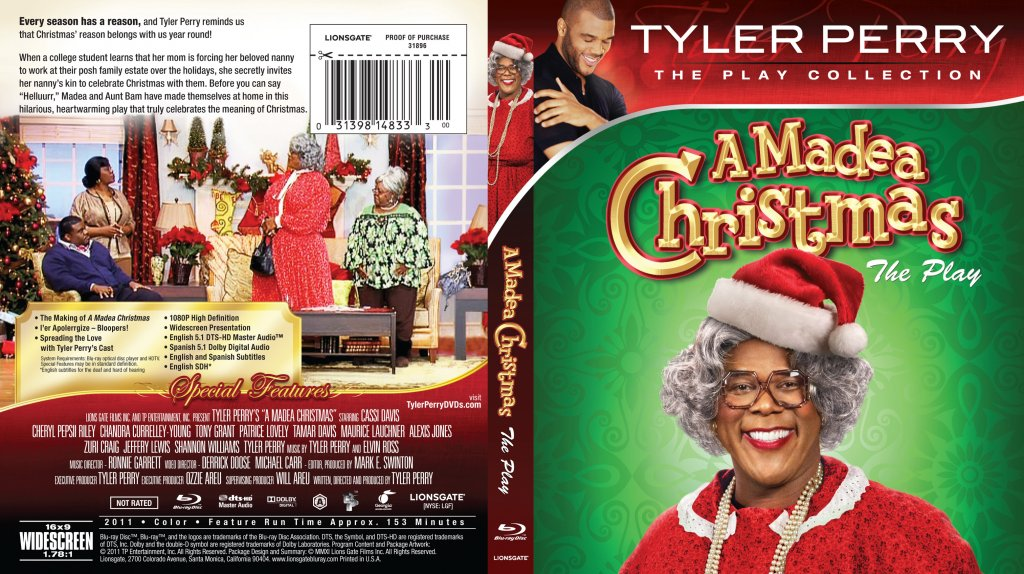 Tyler perry a madea christmas bluray tv blu ray scanned covers