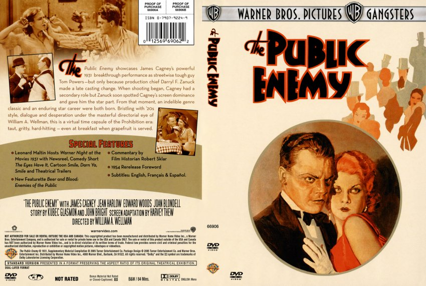 The Public Enemy - Movie DVD Custom Covers - 296Public ...