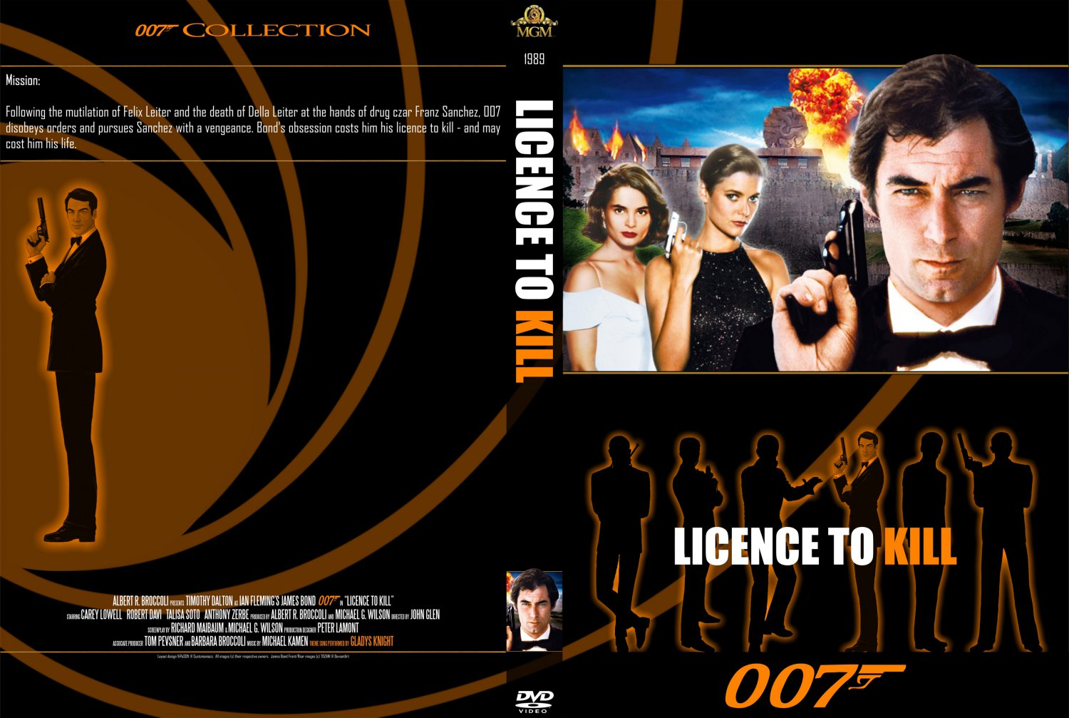 Licence To Kill - Movie DVD Custom Covers - 16 - 007 ...