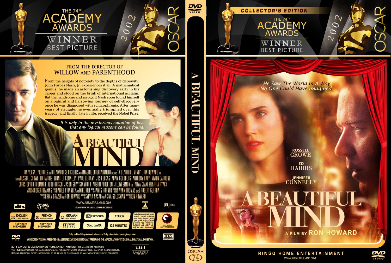 Beautiful Mind 74 A Dvd Cover 2012 Date 03 18 2013 Size