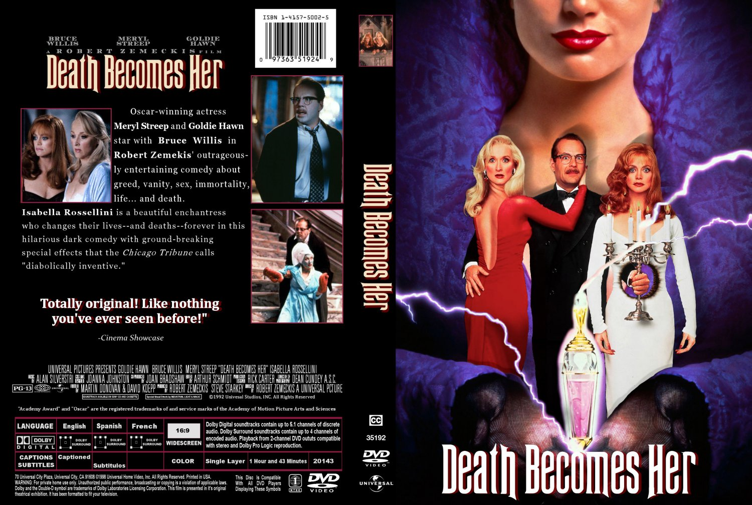 Death Becomes Her - Movie DVD Custom Covers - Death ...