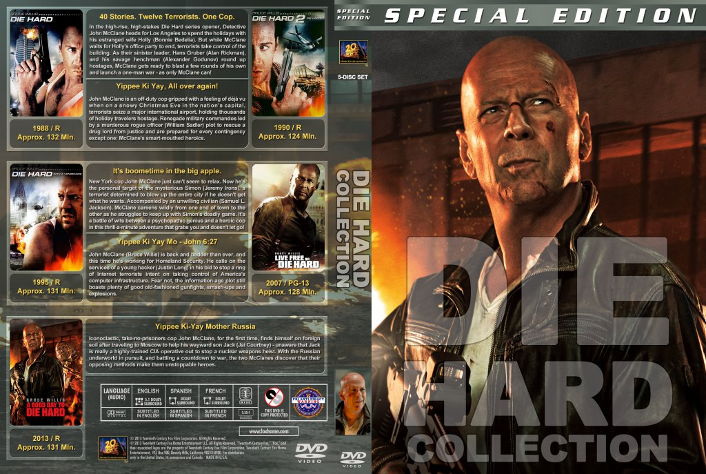 Die Hard Collection  Movie DVD Custom Covers  Die Hard