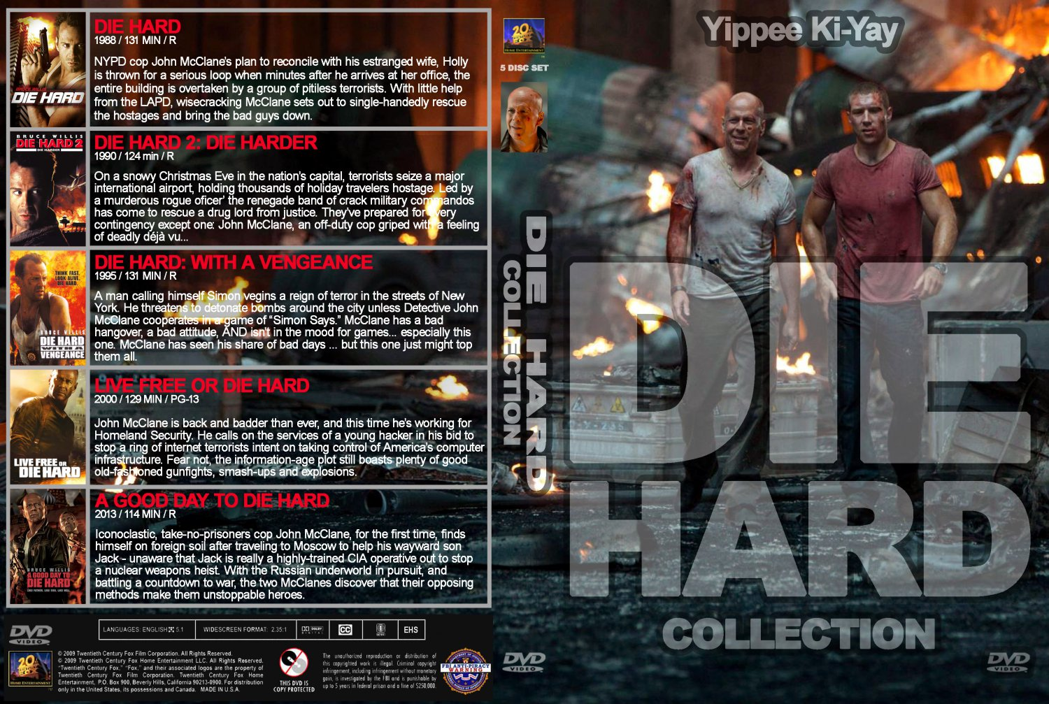 die hard collection movie dvd custom covers die hard collection v1 dvd covers. Black Bedroom Furniture Sets. Home Design Ideas