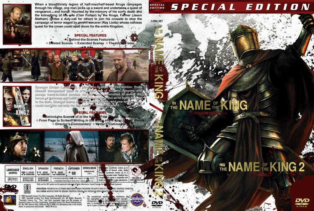 In The Name Of The King - version 3 - Movie DVD Custom ...