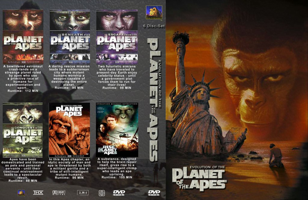 planet of the apes collection movie dvd custom covers