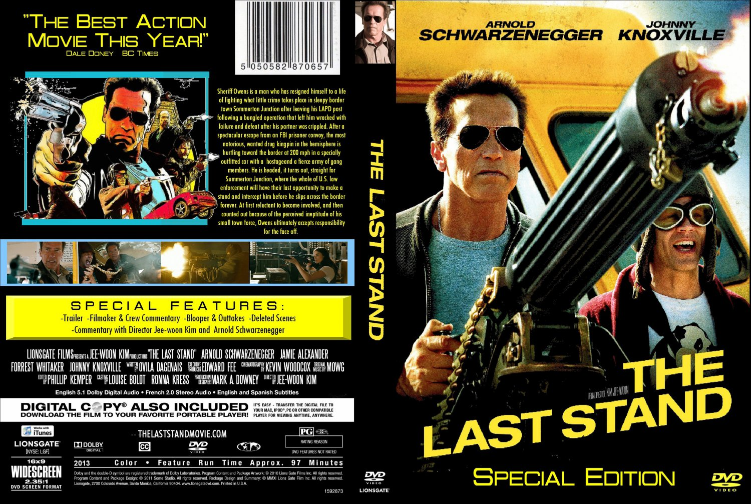 the last stand movie dvd custom covers the last stand