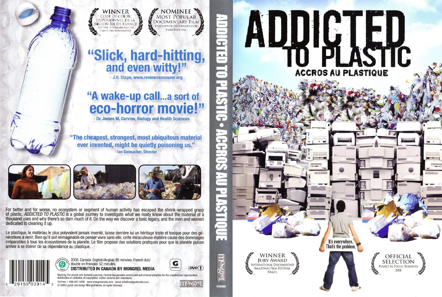 response to addicted to plastic documentary 85 m - documentaries a canadian documentary on modern society's 'addiction' to plastic our prolific use of this product, its effects on the earth and on us, and where out=r unwanted plastic ends up.