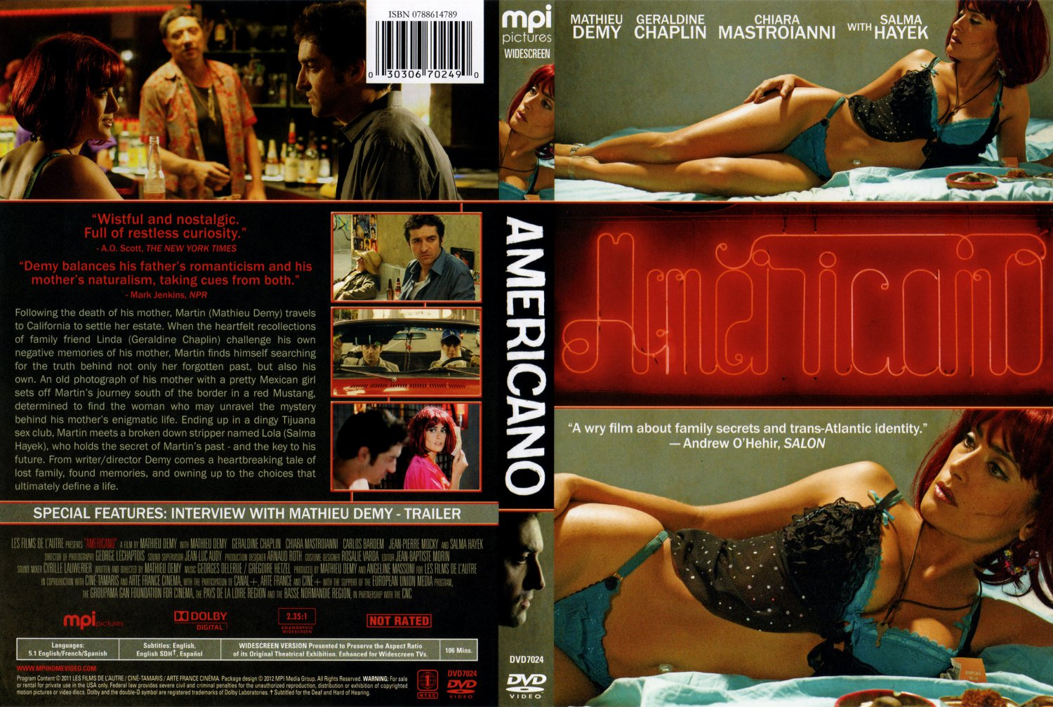 Americano - Movie DVD Scanned Covers - Americano-MPI-RB Scan :: DVD ...