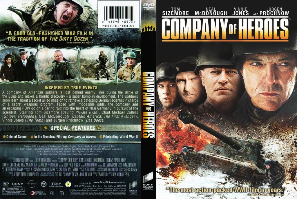 Company Of Heroes Movie Dvd Scanned Covers Company Of Heroes