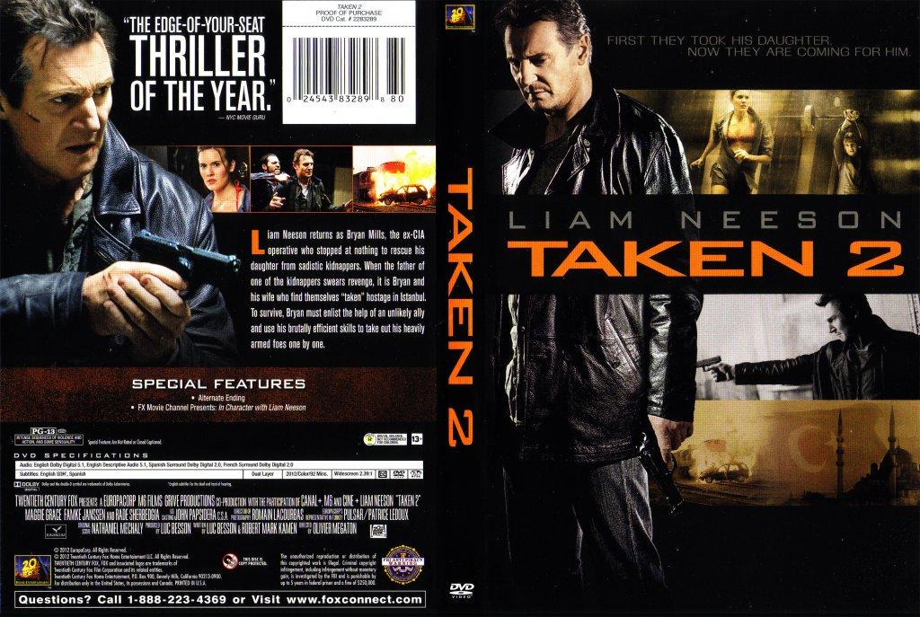 Taken 2 - Movie DVD Scanned Covers - 186.6KB