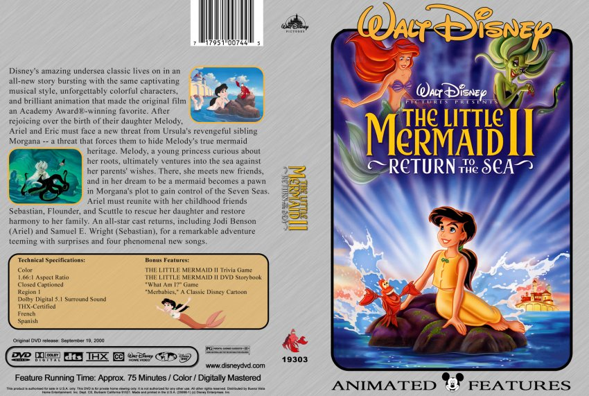 The Little Mermaid 2 - Movie DVD Custom Covers - 306The ...