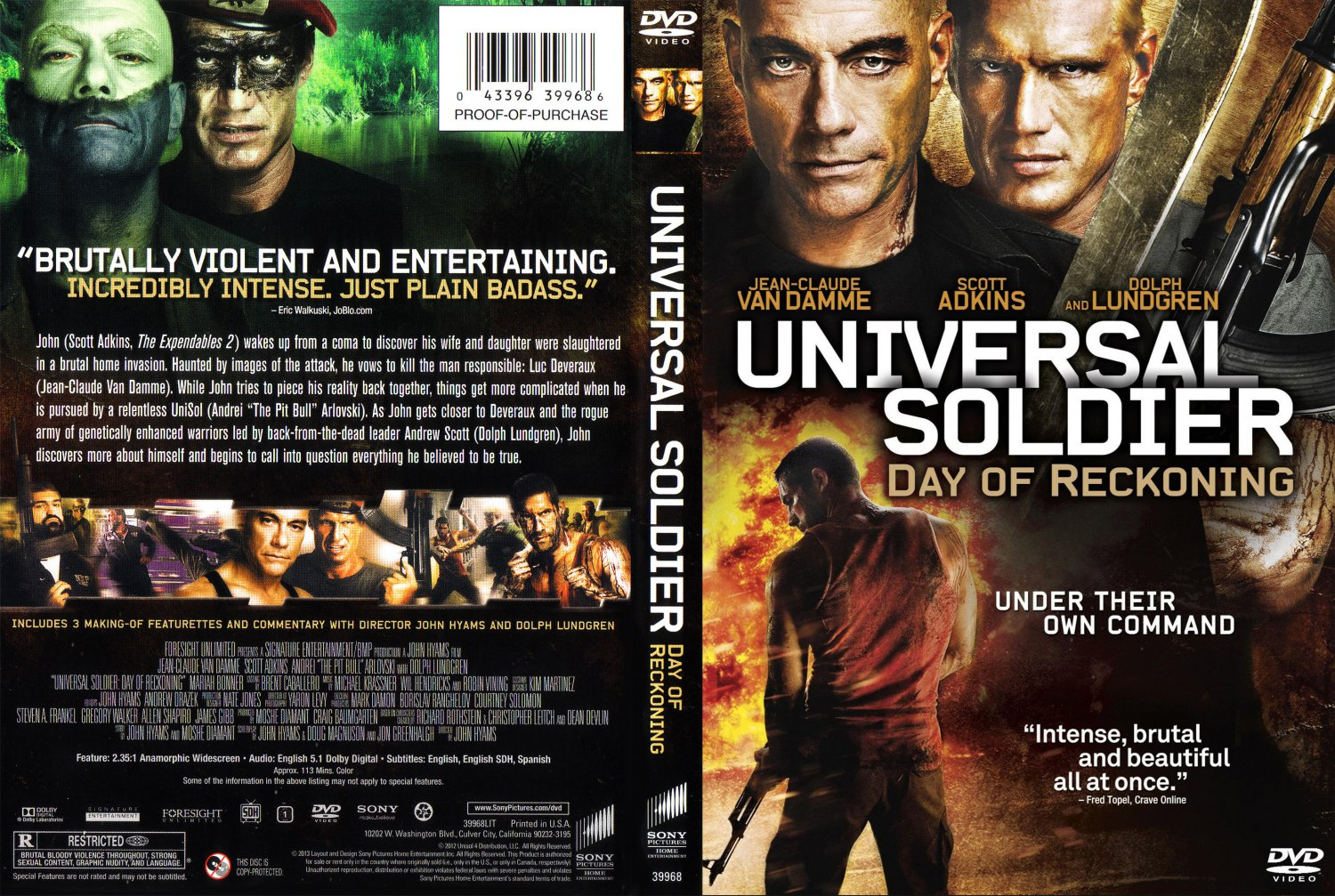 Universal Soldier Day Of Reckoning - Movie DVD Scanned ...