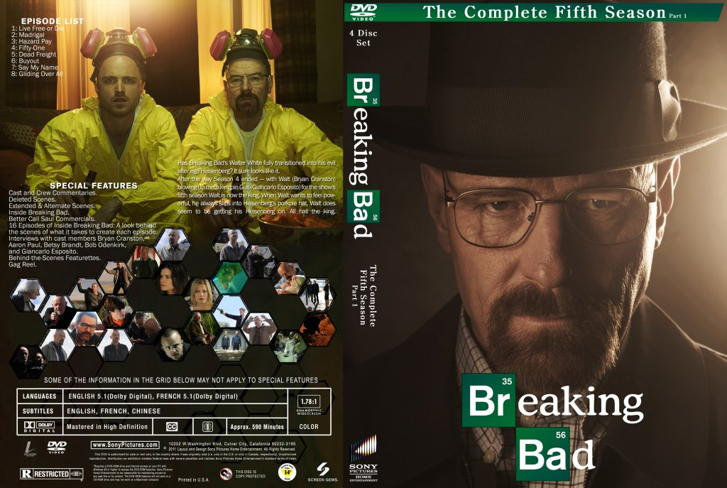 breaking bad season 5 tv dvd custom covers breaking