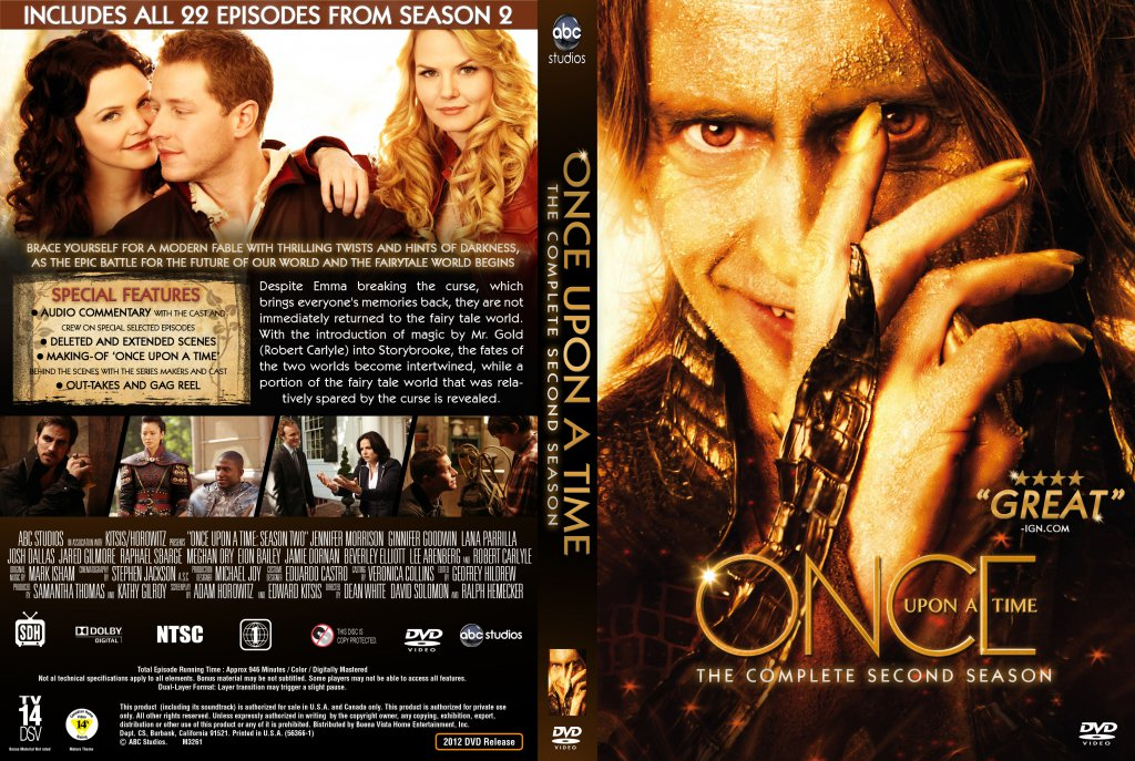 Once Upon A Time Season 2 - TV DVD Custom Covers - Once Upon A Time