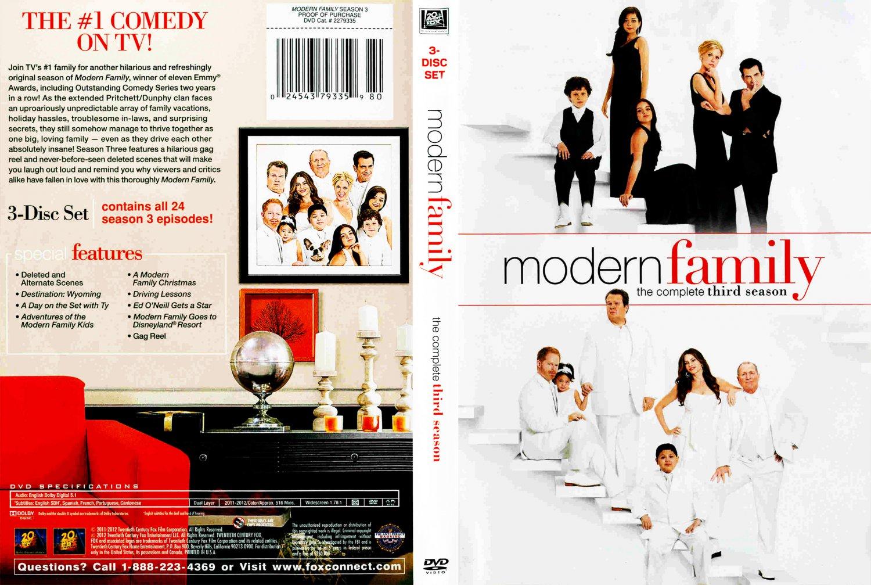 modern family season 3 tv dvd scanned covers modern family season 3 dvd covers