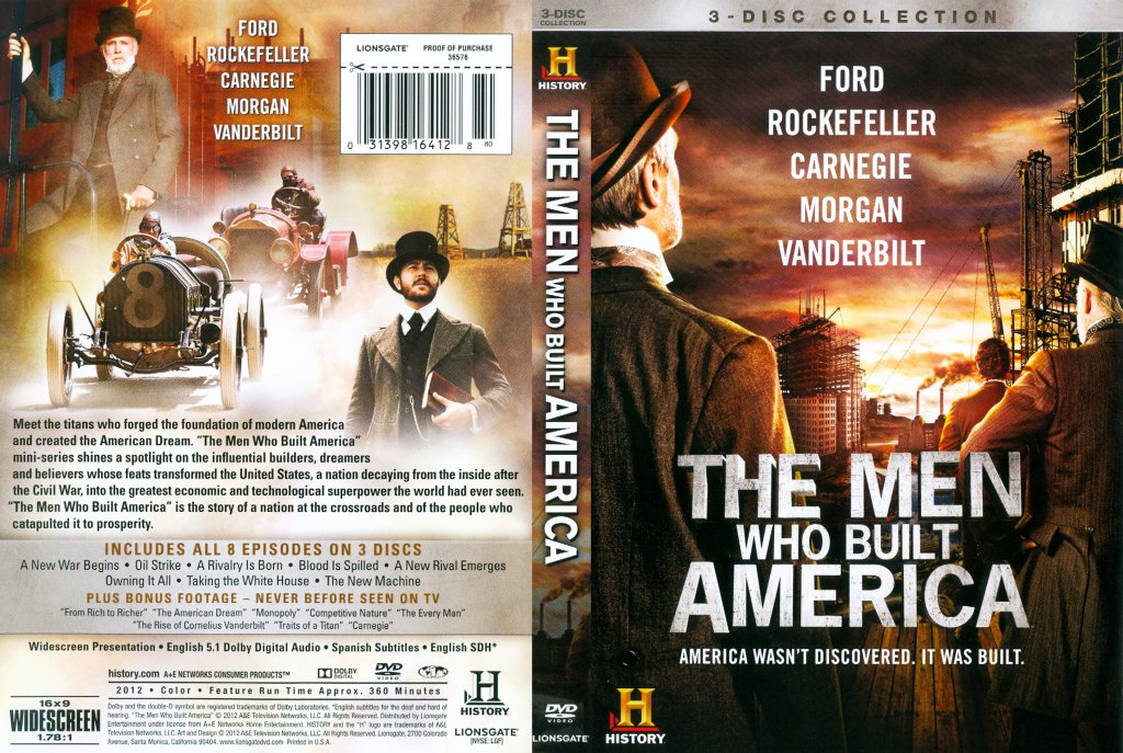 The men who built america tv dvd scanned covers the men who built