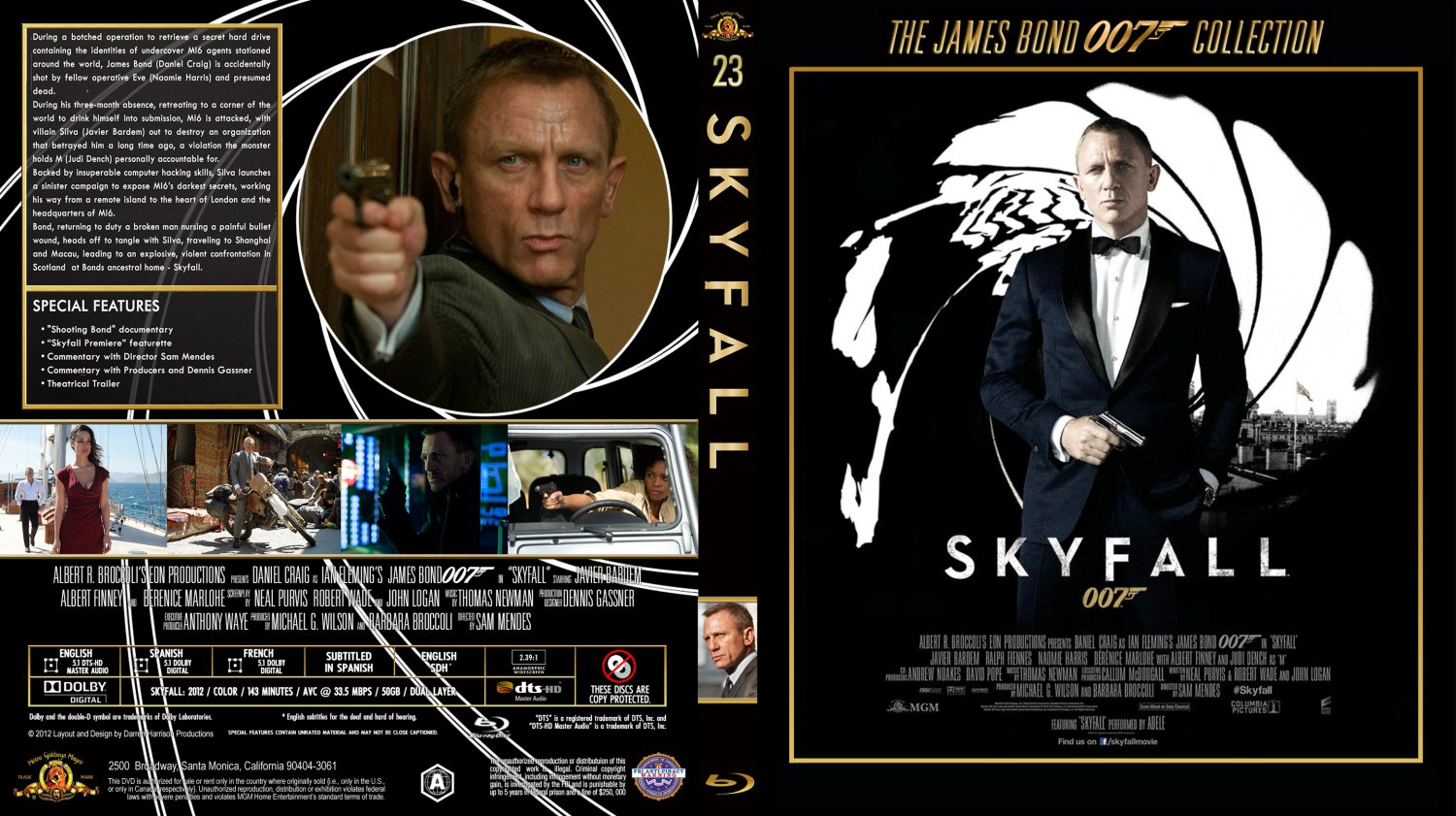 Skyfall - Movie ...007 Skyfall Dvd Cover