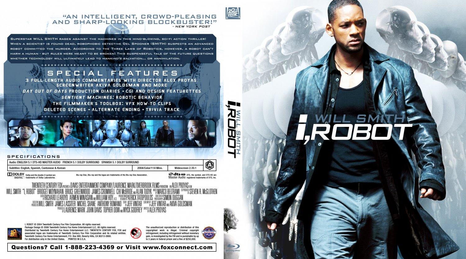 i robot movie blu ray custom covers irobot300 dvd covers. Black Bedroom Furniture Sets. Home Design Ideas