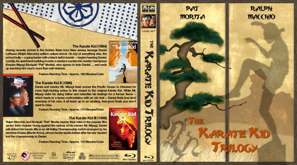The Karate Kid Trilogy Movie Blu Ray Custom Covers Karate Kid