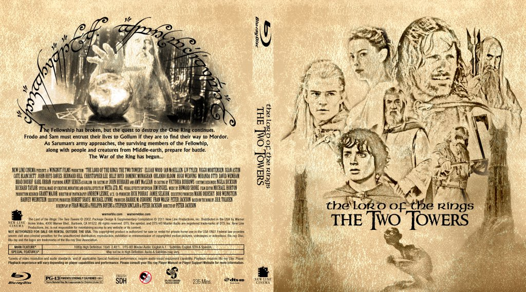 The Lord Of The Rings: The Two Towers - Movie Blu-Ray ...