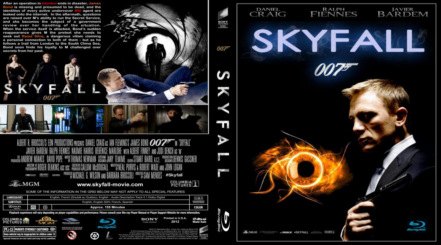 skyfall movie blu ray custom covers skyfall iii blu. Black Bedroom Furniture Sets. Home Design Ideas