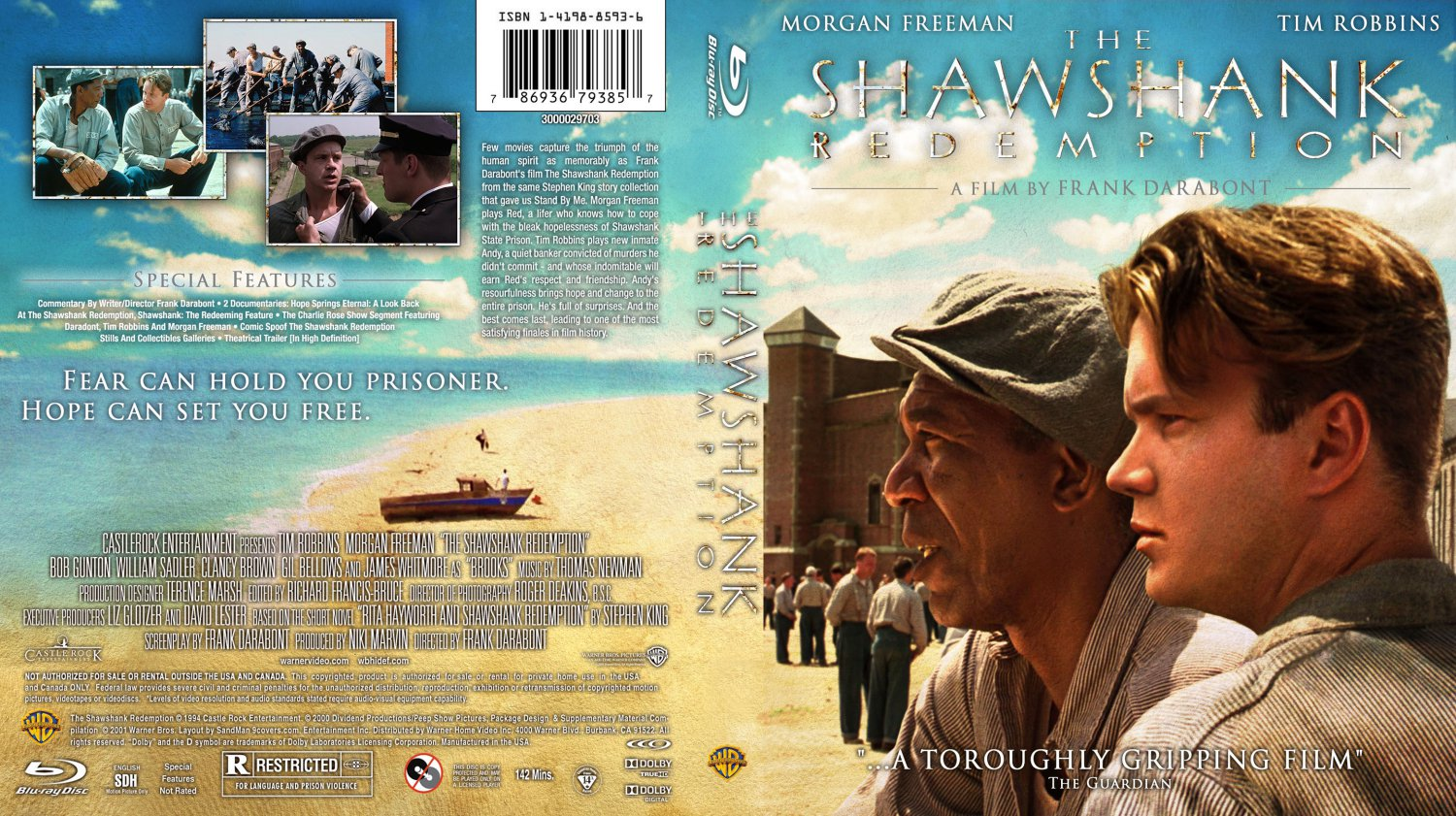 The Shawshank Redemption - Movie Blu-Ray Custom Covers ...