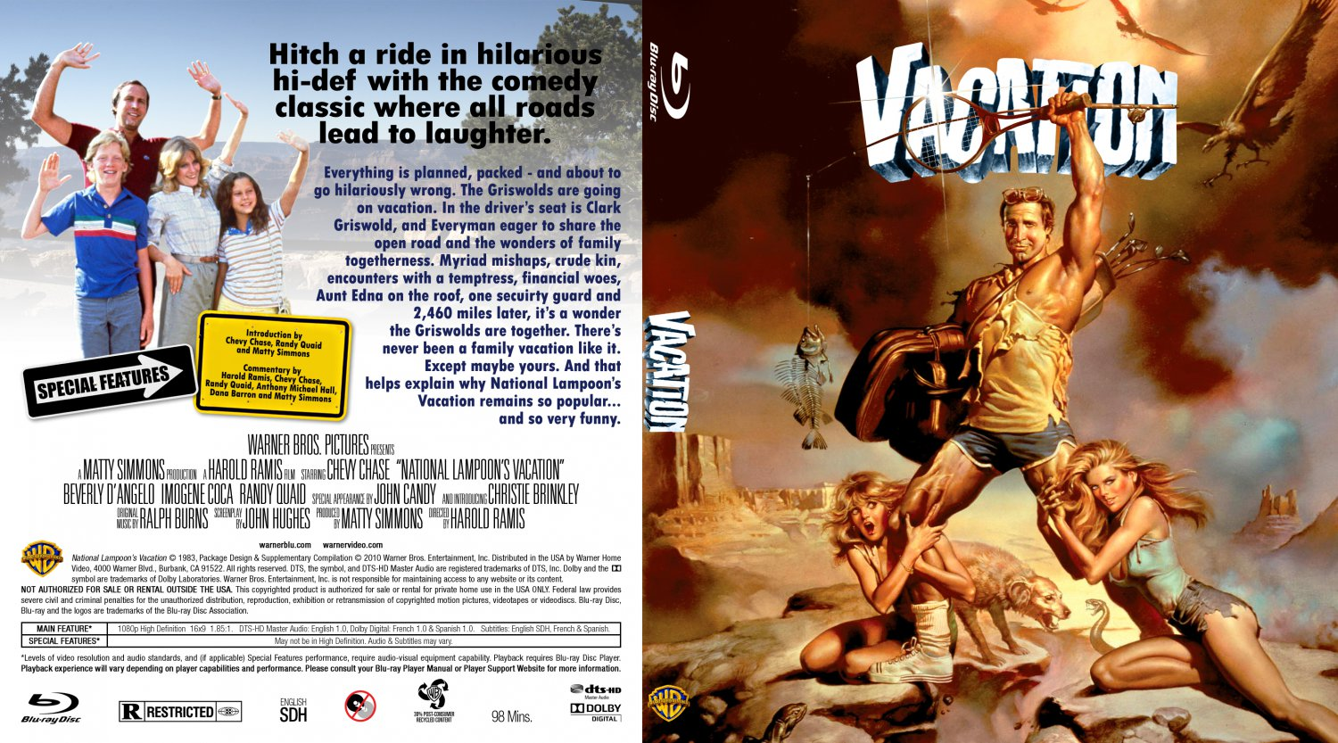 National Lampoon S Vacation Movie Blu Ray Custom Covers