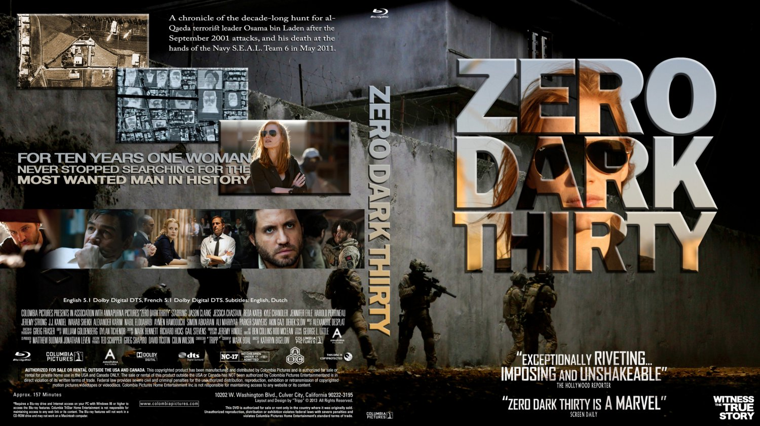 zero dark thirty The acclaimed thriller about the hunt for osama bin laden represents a troubling new frontier of government-embedded filmmaking sony one of the most dramatic scenes in zero dark thirty, the new film by kathryn bigelow and mark boal, takes place in a conference room where the cia team hunting osama.