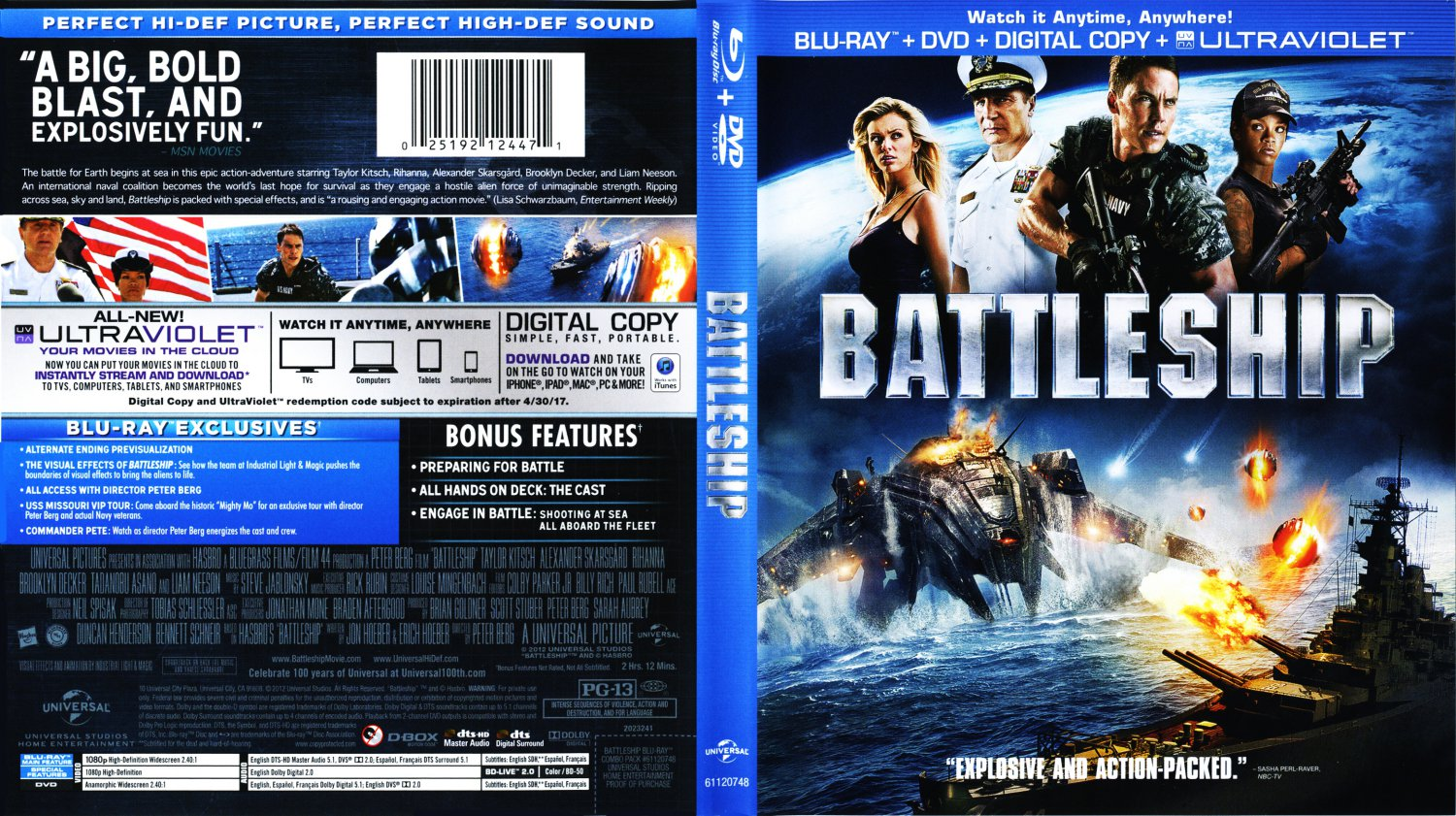 battleship movie blu ray scanned covers battleship. Black Bedroom Furniture Sets. Home Design Ideas