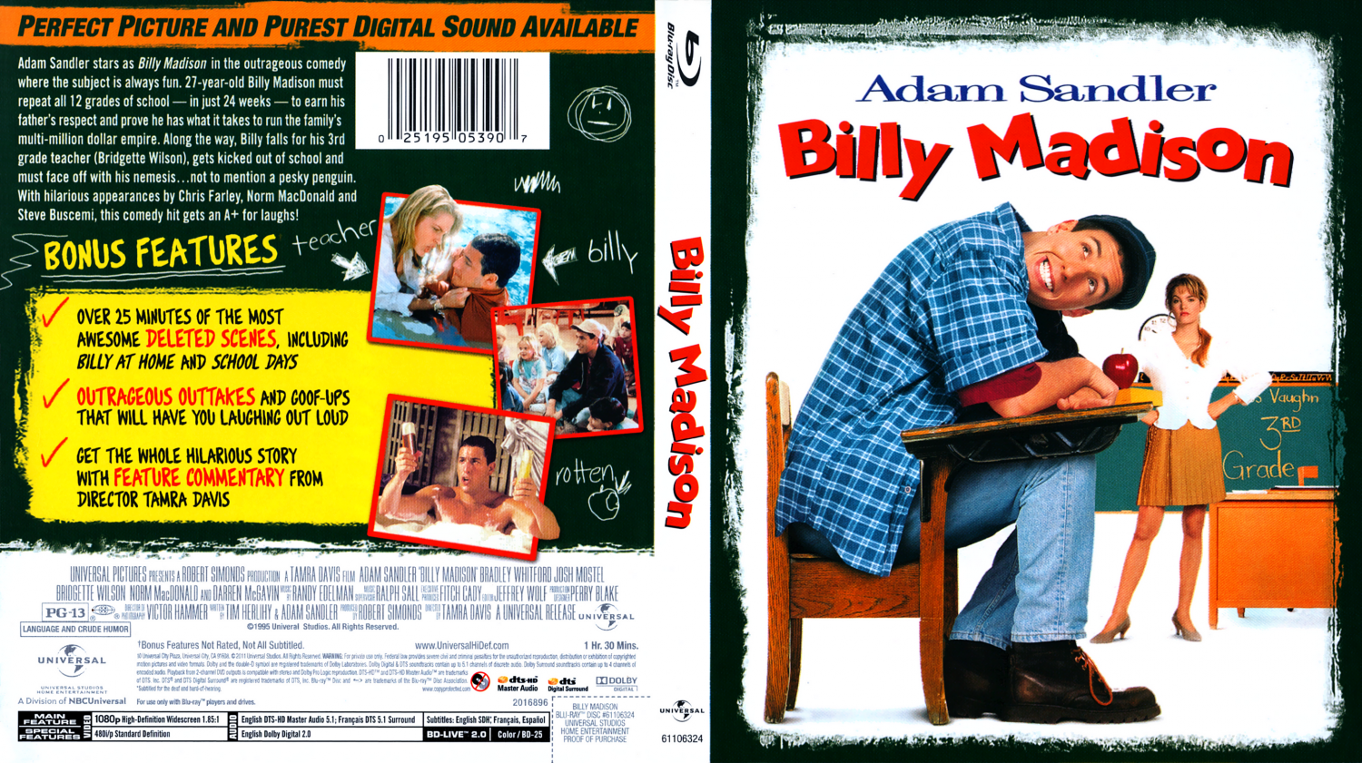 Billy Madison - Movie Blu-Ray Scanned Covers - Billy ...