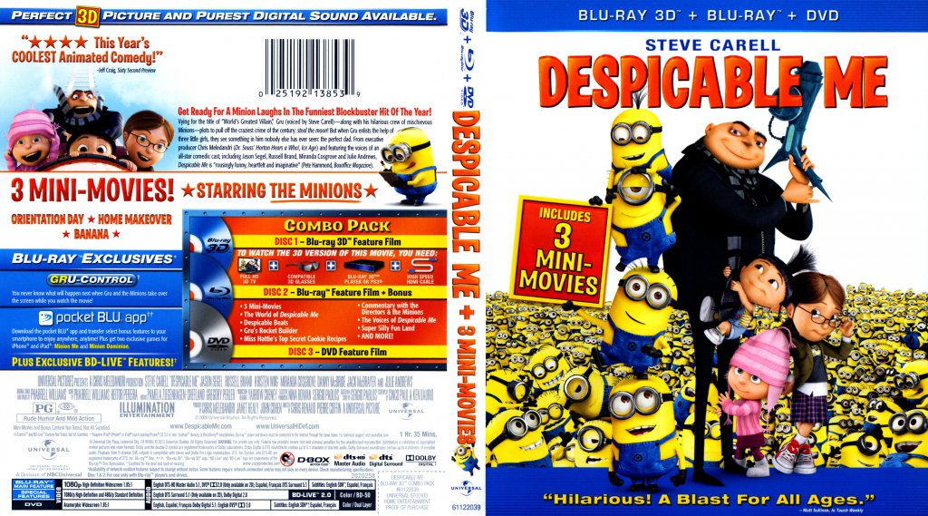 Despicable Me 3D - Movie Blu-Ray Scanned Covers ...