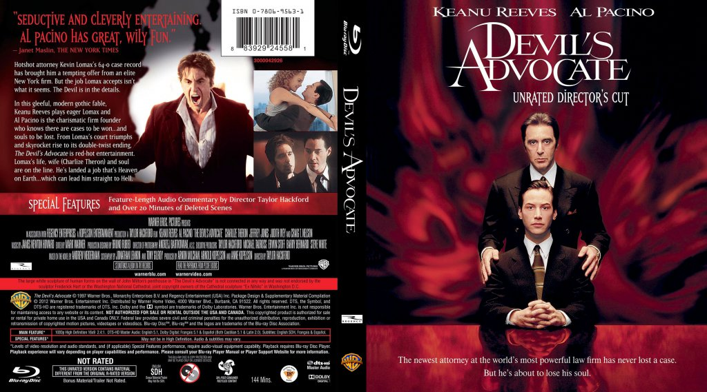 an analysis of the movie the devils advocate Looking back on 1997's the devil's advocate, it's easy to remember the film's expert analysis and change how you see 'the devil's advocate.