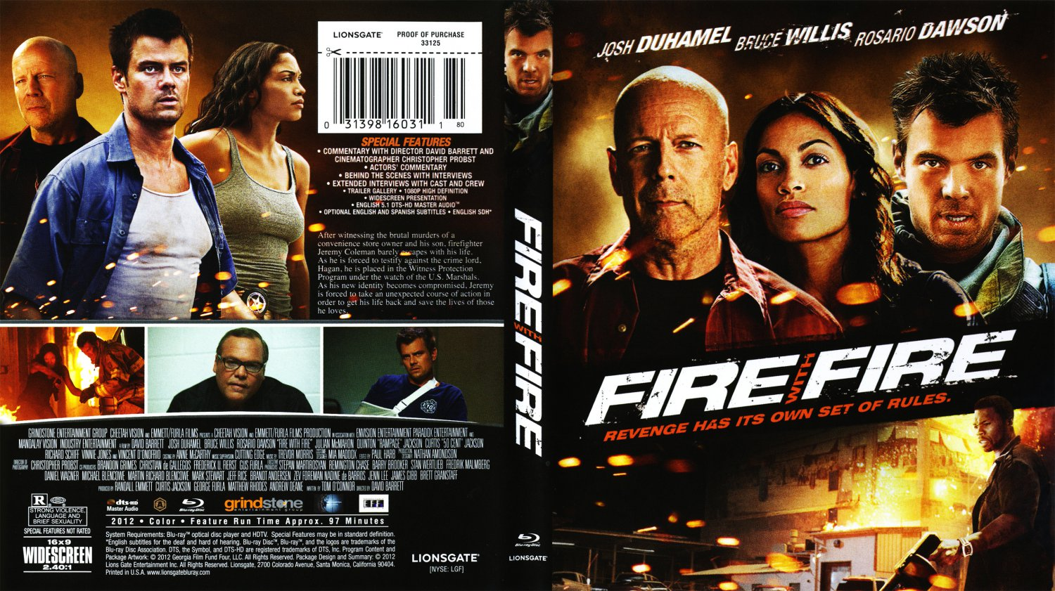 fire with fire movie bluray scanned covers fire with