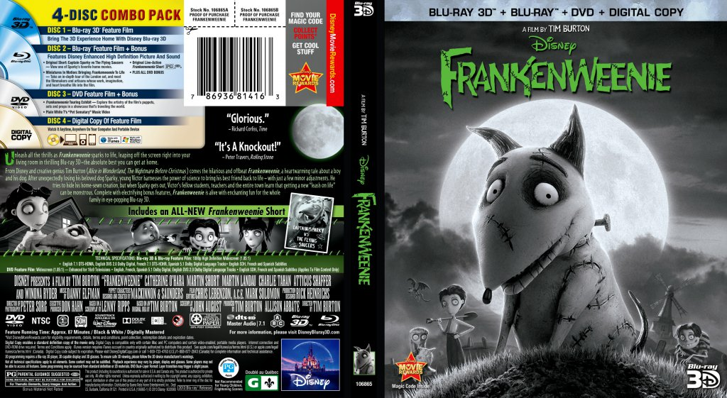 frankenweenie a 3d movie Frankenweenie 3d synopsis and movie info if there's one thing young victor frankenstein loves more than anything, it's his dog sparky after.